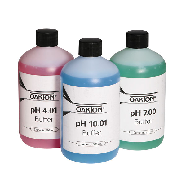 Oakton pH Solution Three Pack - 500-ml each of 4.01, 7.00 and 10